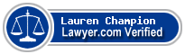 Lauren Kate Champion  Lawyer Badge
