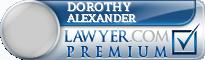 Dorothy Y. Alexander  Lawyer Badge