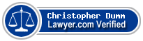 Christopher William Dumm  Lawyer Badge