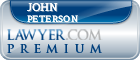 John W. Peterson  Lawyer Badge