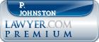 P. M. Johnston  Lawyer Badge