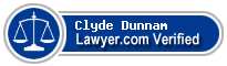Clyde Vance Dunnam  Lawyer Badge