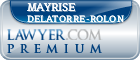 Mayrise G. Delatorre-rolon  Lawyer Badge