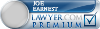 Joe Earnest  Lawyer Badge