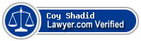 Coy C. Shadid  Lawyer Badge