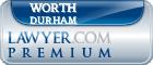 Worth B. Durham  Lawyer Badge