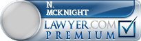 N. Evelyn Mcknight  Lawyer Badge