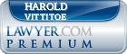 Harold Eugene Vittitoe  Lawyer Badge