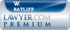 W. P. Ratliff  Lawyer Badge