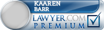 Kaaren L. Barr  Lawyer Badge