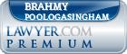 Brahmy Poologasingham  Lawyer Badge