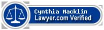 Cynthia Ann Macklin  Lawyer Badge