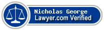 Nicholas George  Lawyer Badge
