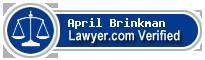 April Boutillette Brinkman  Lawyer Badge