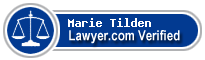 Marie M. Tilden  Lawyer Badge