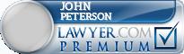 John Peterson  Lawyer Badge