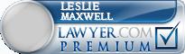 Leslie Maxwell  Lawyer Badge