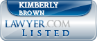 Kimberly Brown Lawyer Badge
