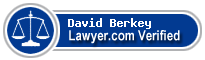 David Arnold Berkey  Lawyer Badge