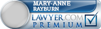 Mary-Anne S. Rayburn  Lawyer Badge