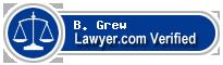 B. Carlton Grew  Lawyer Badge