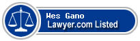 Wes Gano Lawyer Badge