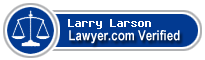 Larry Washburn Larson  Lawyer Badge