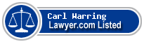 Carl Warring Lawyer Badge
