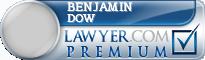 Benjamin Winters Dow  Lawyer Badge