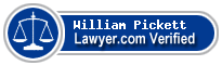 William D. Pickett  Lawyer Badge