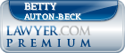 Betty Auton-Beck  Lawyer Badge