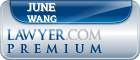 June Wang  Lawyer Badge
