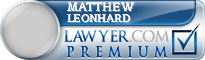 Matthew Brent Leonhard  Lawyer Badge