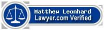 Matthew Brent Leonhard  Lawyer Badge