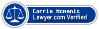 Carrie A. Mcmanis  Lawyer Badge