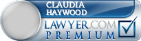 Claudia Elaine Haywood  Lawyer Badge