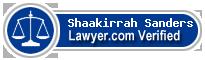 Shaakirrah Sanders  Lawyer Badge