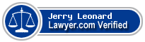 Jerry Lanting Leonard  Lawyer Badge