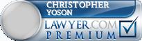 Christopher Joseph Yoson  Lawyer Badge