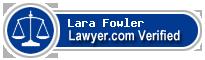 Lara Fowler  Lawyer Badge