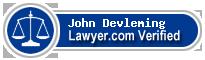John Frederick Devleming  Lawyer Badge