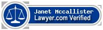 Janet L. Mccallister  Lawyer Badge
