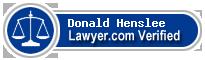 Donald G. Henslee  Lawyer Badge