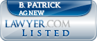 B. Patrick Agnew Lawyer Badge