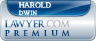 Harold Dwin  Lawyer Badge