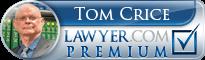 Tom Crice  Lawyer Badge
