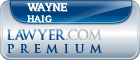 Wayne Haig  Lawyer Badge