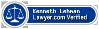 Kenneth W. Lehman  Lawyer Badge