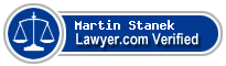 Martin J. Stanek  Lawyer Badge