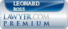 Leonard Gerald Ross  Lawyer Badge